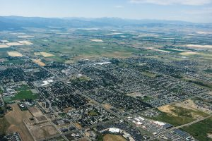 Bozeman from an airplane