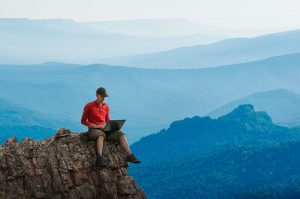 remote worker  mountain