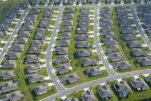 City houses sprawl