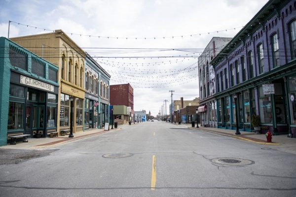 Empty downtown