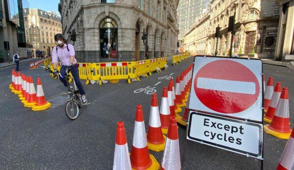 London bike transportation road