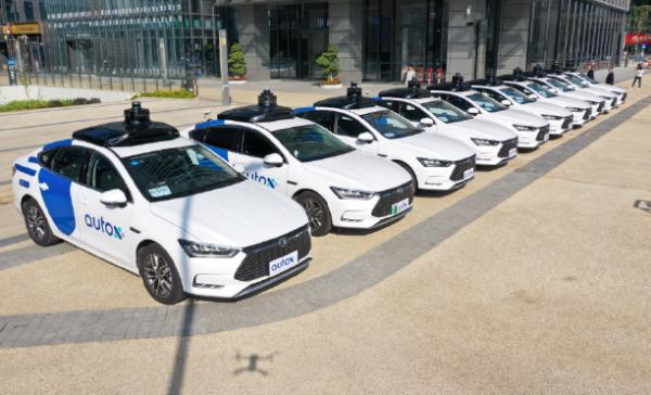 AutoX autonomous taxi car