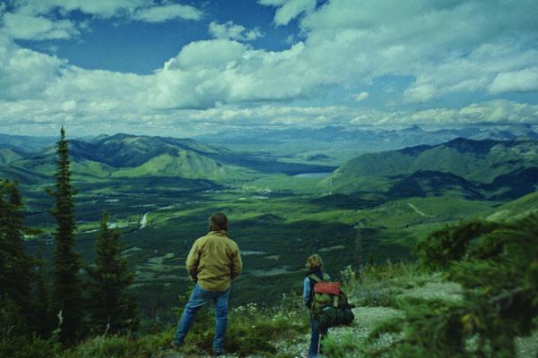 "Scene from ""Cowboys"" movie set in Montana, featuring actors Sasha Knight and Steve Zahn. Courtesy photo."