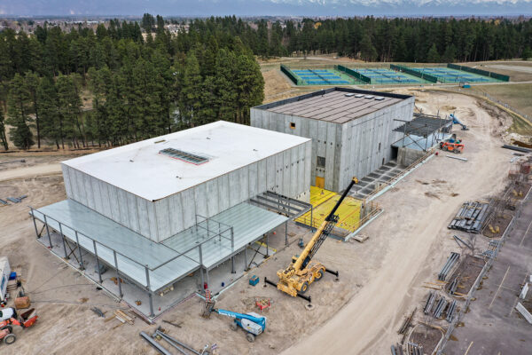 The Paul D. Wachholz College Center under construction at the Flathead Valley College Center on April 7, 2021. Hunter D'Antuono   Flathead Beacon